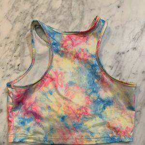 UNIF Tops - UNIF rainbow Tie Dye Crop Top